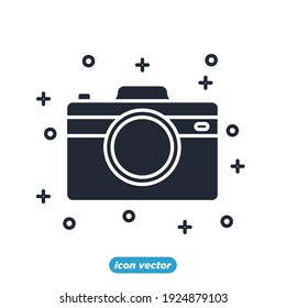 camera icon. camera party festival symbol template for graphic and web design collection logo vector illustration