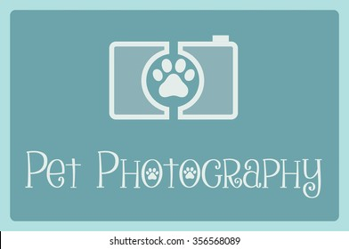 Camera Icon, pet photography concept, logo design