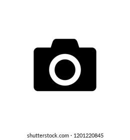 Camera icon. Photo camera icon. Camera Icon in trendy flat style isolated on white background.