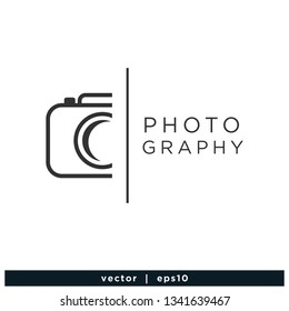 Camera icon photography symbol logo template