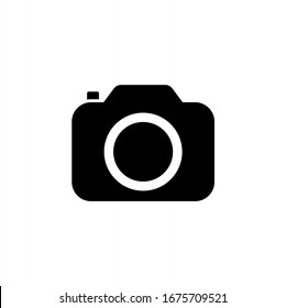 カメラアイコン。画像、写真のアイコンベクター画像