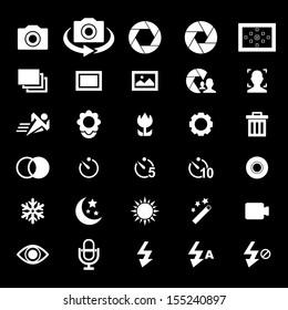 Camera Icon set - White