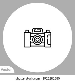 Camera icon sign vector,Symbol, logo illustration for web and mobile