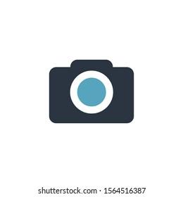 Camera Icon. Stock vector illustration isolated on white background.