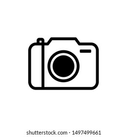 Camera icon symbol vector.  icon on white background