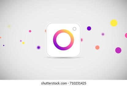 camera icon symbolic with colorful design