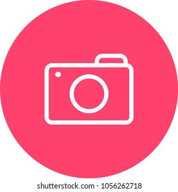 Camera Icon in trendy flat style isolated on grey background. Camera symbol for your web site design, logo, app, UI. Vector illustration, EPS10.