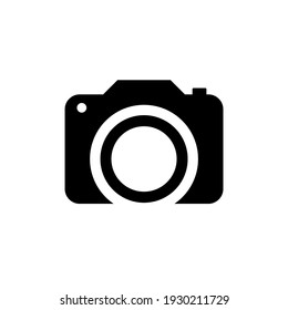 Camera icon in trendy flat style isolated on white background vector illustration