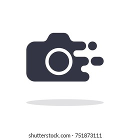 Camera icon in trendy flat style isolated on white background camera symbol for your web site, logo and other