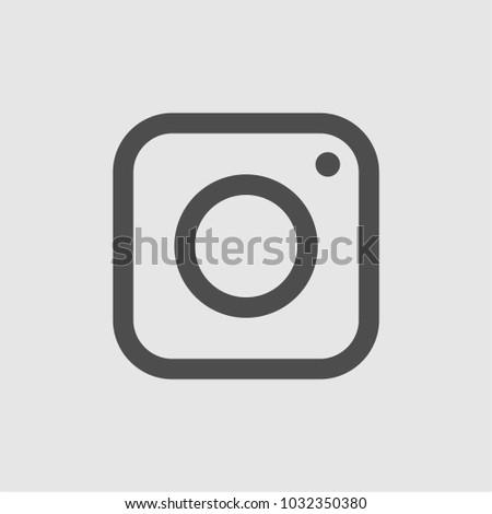 Camera Icon Trendy Flat Style Isolated Stockvector Rechtenvrij