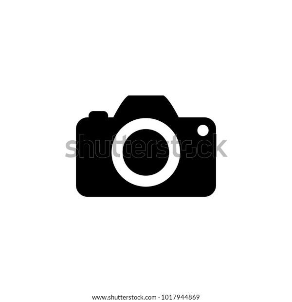 Icône de caméra à la mode à plat isolée sur fond blanc.