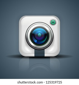 Camera icon for user or mobile interface