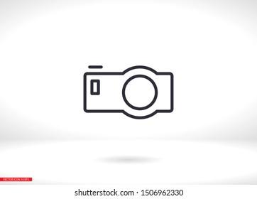Camera Icon VECTOR 10 EPS. lorem ipsum Flat Design JPG