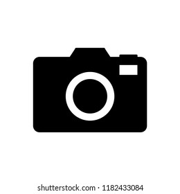 Camera icon vector illustration. Photo camera sign.