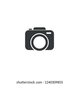 camera icon vector logo template