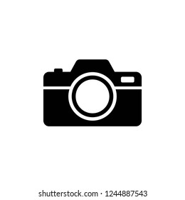 camera icon vector on white background