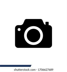 Camera icon vector. Photo icon isolated