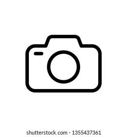 Camera Icon Vector Trendy Design