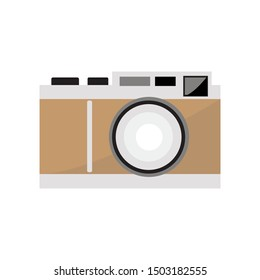 CAMERA ILLUSTRATIONS, CAN BE USED FOR ICONS AND ILLUSTRATIONS, BY USING SOLID COLOR