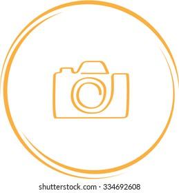 camera. Internet button. Vector icon.