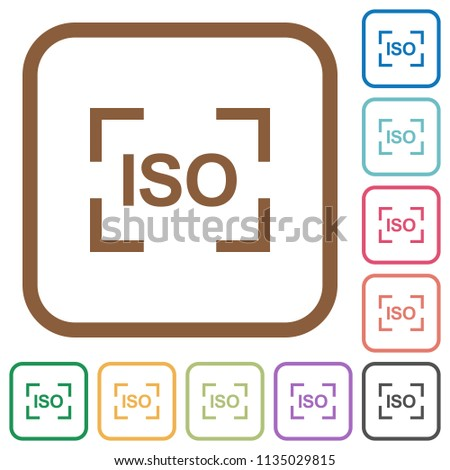 Camera Iso Speed Setting Simple Icons Stock Vector (Royalty Free ...