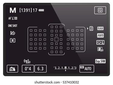 Camera LCD screen