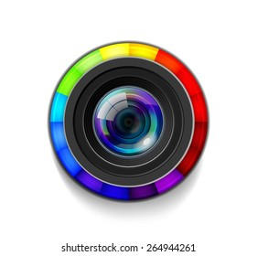 Camera Lens with Color Wheel