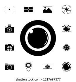 camera lens icon. Detailed set of photo camera icons. Premium quality graphic design icon. One of the collection icons for websites, web design, mobile app on white background