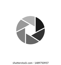 Camera lens icon. Instagram logo symbol. Social media sign isolated on white background. Simple vector illustration for graphic and web design. elements camera