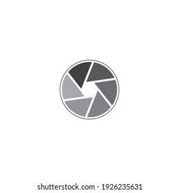 Camera lens icon vector design illustration.
