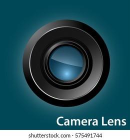 camera lens symbol and icon , vector illustration