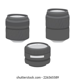 Camera Lens Vector Freehand