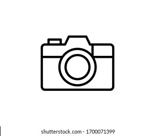 Camera line icon. Vector symbol in trendy flat style on white background. Web sing for design.
