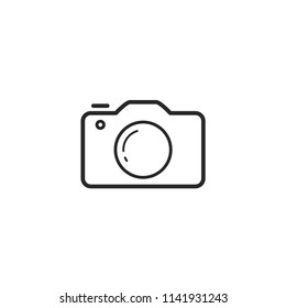 camera logo icon vector template