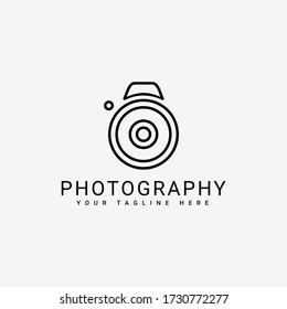 camera logo with a lens icon