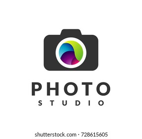 Camera logo. Photo icon. Photography sign. Photograph logo. Camera icon, Photographer studio logo. Photo studio logo.