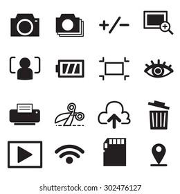 Camera mode icons set illustration symbol Vector