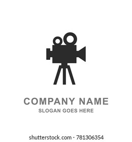 Camera Movie Film Cinema Recording Shooting Logo Vector