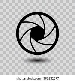 Camera objective  icon. One of set web icons