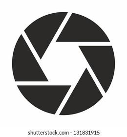 Camera objective icon (symbol)