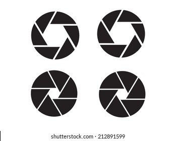 Camera objective icon,shutter icon,camera isolated,shutter vector