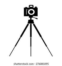 the camera on a tripod