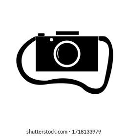 白い背景にカメラ。イラストアイコンイメージ