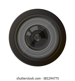Camera photo lens vector. Camera lens vector illustration with realistic reflections. Camera photo lens shutter and camera photo lens realistic sign. Camera photo lens equipment. Camera photo lens.