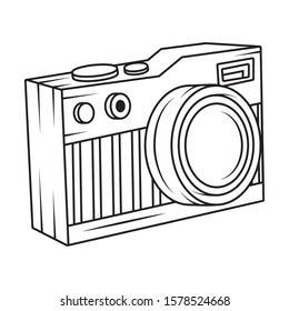 camera photographic pop art style vector illustration design