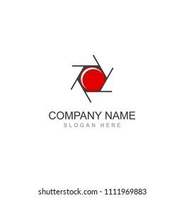 Camera photography click shutter spot vector logo