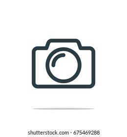 Camera Photography Icon Logo Template Illustration Design. Vector EPS 10.