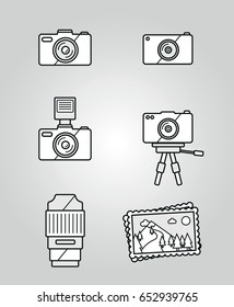 Camera and photography icon set