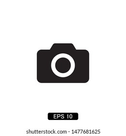 camera photography icon vector illustration logo template