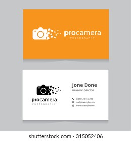 Camera and Photography Logo and Business Card Template